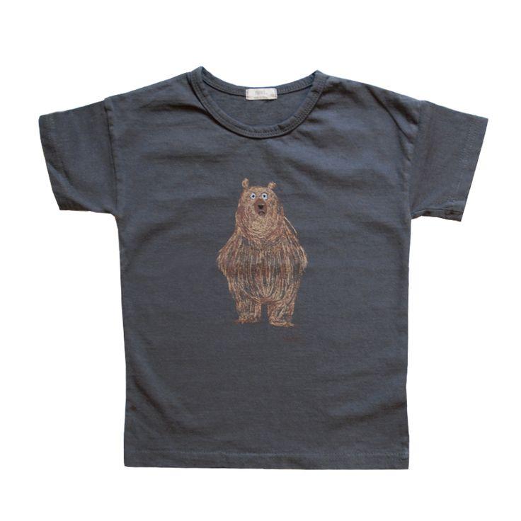 Navi Charcoal Grey Bear T-shirt