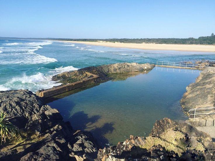 Sawtell ocean pool bath Coffs Harbour nsw Insta: sian_ _ _ _
