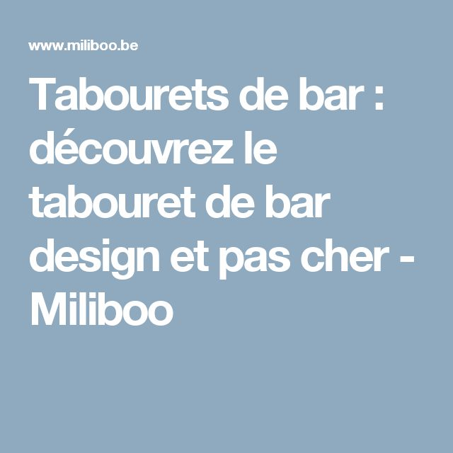 17 best ideas about tabouret pas cher on pinterest - Tabouret de bar tolix pas cher ...