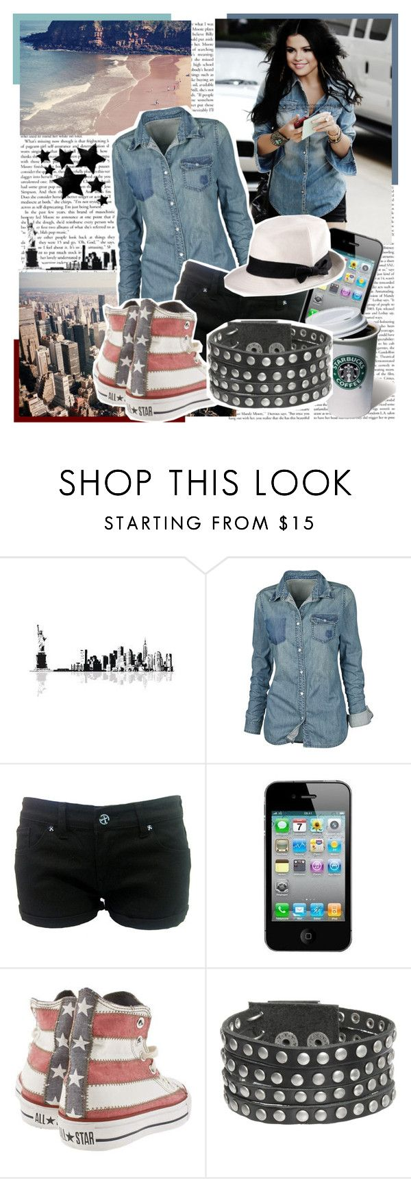 """""""..girl I'm just inlove with you..♥"""" by sophie-is-a-dreamer ❤ liked on Polyvore featuring Fat Face, Criminal Damage, Apple, Converse, G by Guess, H&M and selena gomez"""
