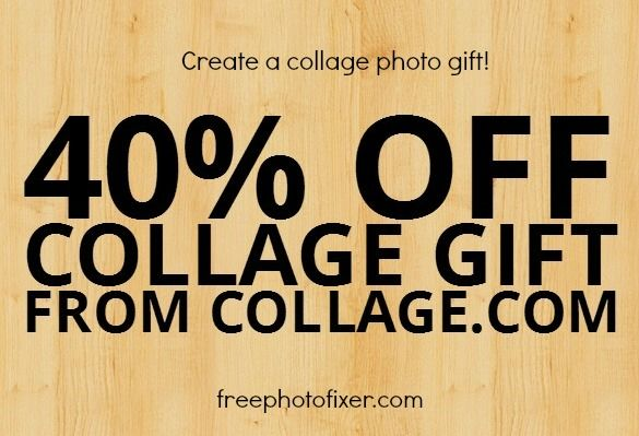 free collage maker online, create and share your photo collage digitally at no charge, also create unique physical gifts at 40% off with code at this site