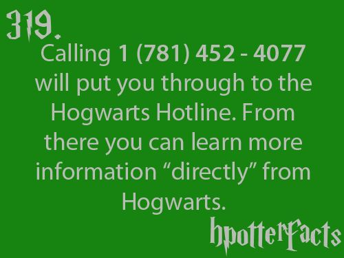 Harry Potter Facts... I don't think it works any more. I called
