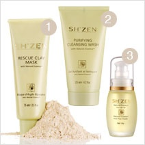 Sh'Zen Natural Essence at last a skincare range for adult oily skin that works for me!