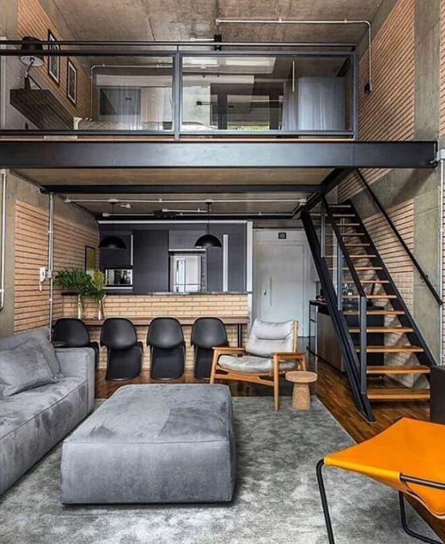 Loft Creative Design With Drawing Area Small Loft Apartments Tiny House Interior Design Loft Interior Design
