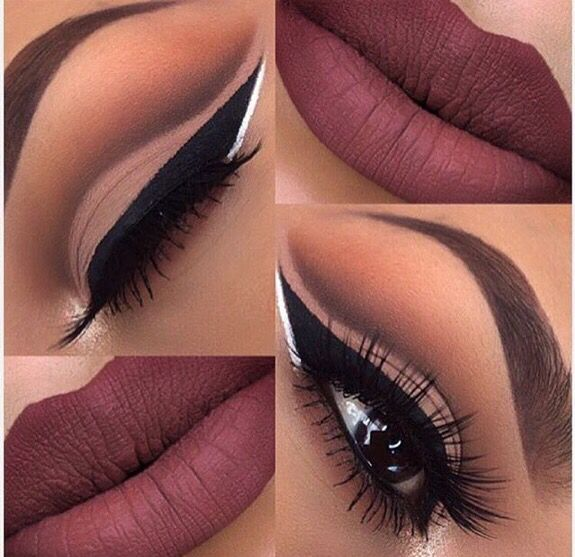 Pretty maroon/plum makeup