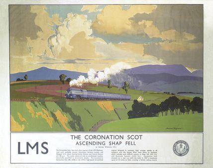 'The Coronation Scot Ascending Shap Fell', LMS poster, 1937.