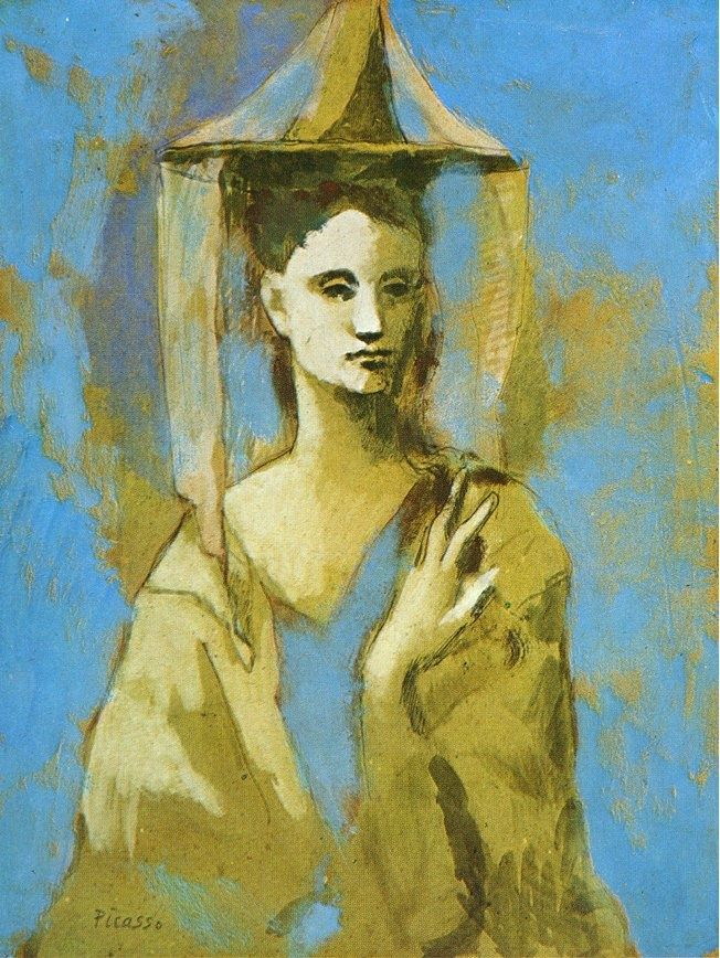 Pablo Picasso, Mallorcan, 1905, final of the blue period and beginning of the rose period.