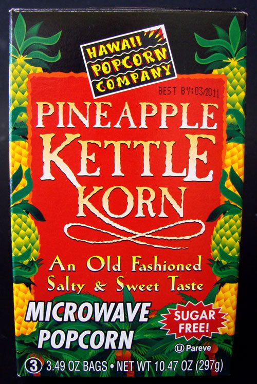 We begin 2010 with a review on Pineapple Kettle Korn, made by Hawaii Popcorn Company, the same folks who make and have the rights to the name 'Hawaiian Hurricane Popcorn'. Here's …
