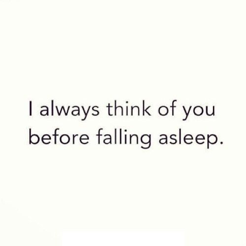 ..before failing asleep.