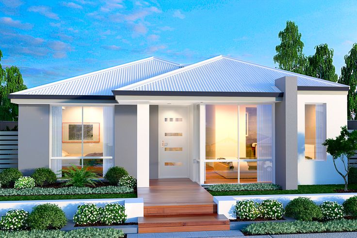 'The Trophy' elevation. 10m frontage. || View Floorplan on http://www.pinterest.com/pin/575264552375972697/ #house #facade #elevation #house #home #smarthomesforliving