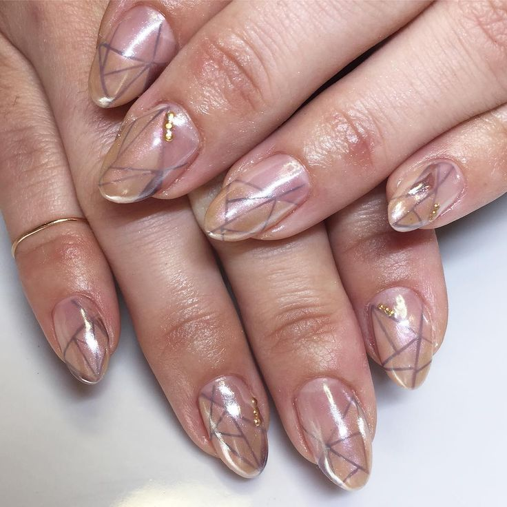 We love how this mani is super edgy but still natural!
