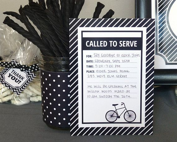 LDS Mission Farewell Party Printable Set by DesignedByMaria