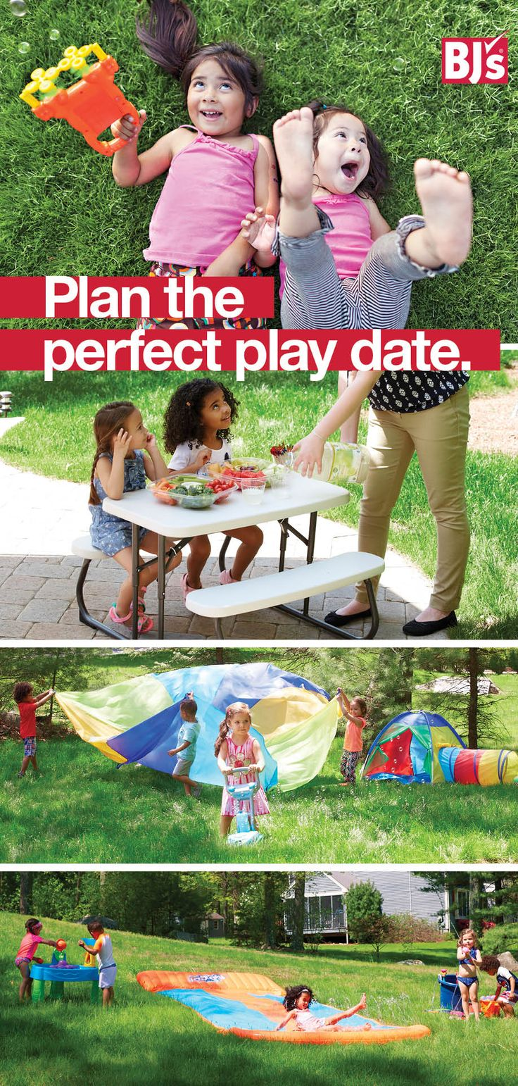 Summer Playdate Ideas: Play outside all summer with our play date snacks and outdoor activities for kids.http://stocked.bjs.com/family/plan-perfect-play-date