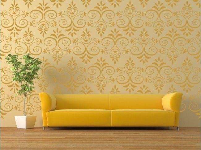 """Vinilo de pared """"Naturaleza"""" patrón ornamental - Una excelente alternativa para decorar paredes - Puedes crear tu propia composición"""