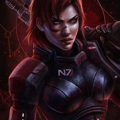 We fight, or we die. Shepard by @_eva_kosmos_
