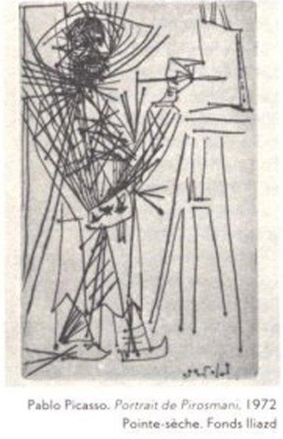 Portrait of Niko Pirosmani, Georgian Painter, by Pablo Picasso