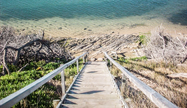 Stilbaai stairs to beach...  (Not sure about who the original photographer is...)