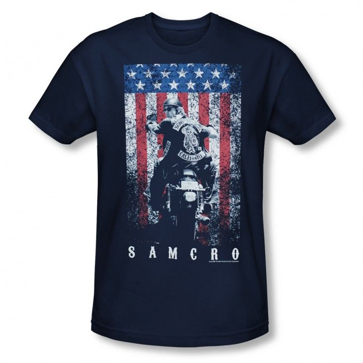 Sons of Anarchy Navy SAMCRO T-Shirt