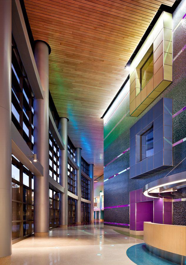 lobbies for children hospitals | lobby with public elevator core phoenix children s hospital main lobby ...