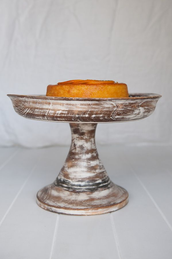 Rustic Wooden Footed Cake Stand