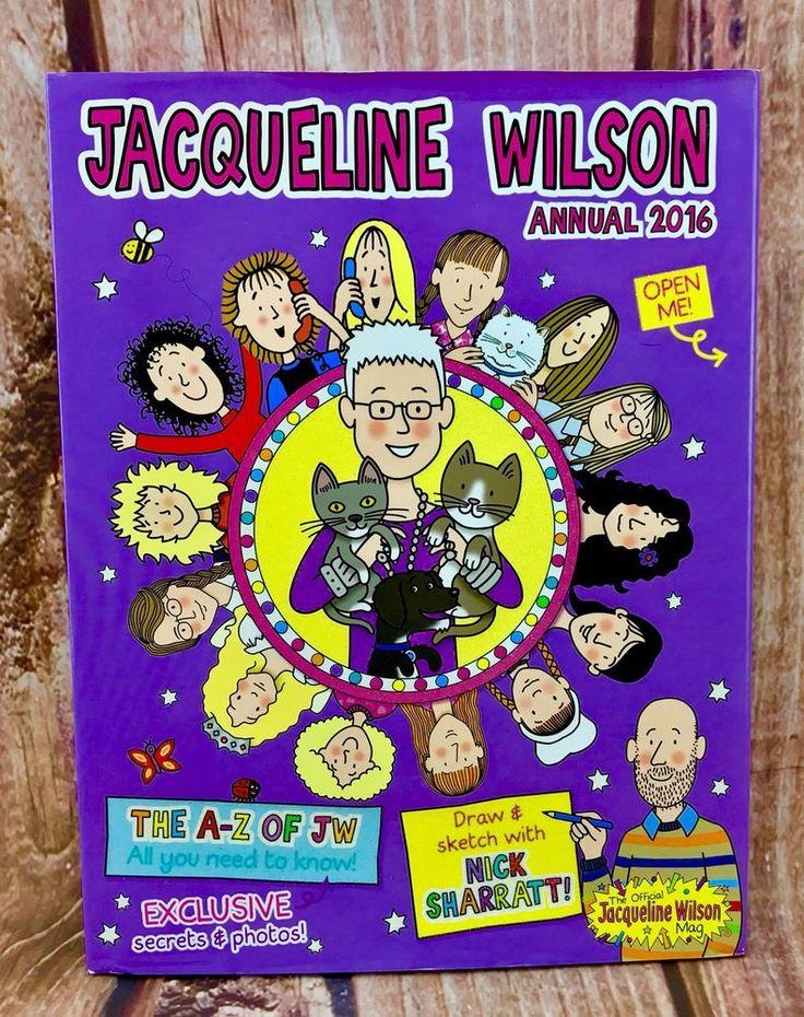 Jacqueline Wilson Annual 2016 Hardcover the a-z of jw exclusive secrets photos