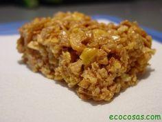 barra de cereales Barritas de cereales, hechas en casa baratas, ecológicas y saludables