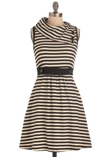 Coach Tour Dress in Stripes: Coach Tours, Tours Dresses, Retro Vintage Dresses, Collars, Closet, The Dresses, Black White Stripes, Coaches, Stripes 47 99