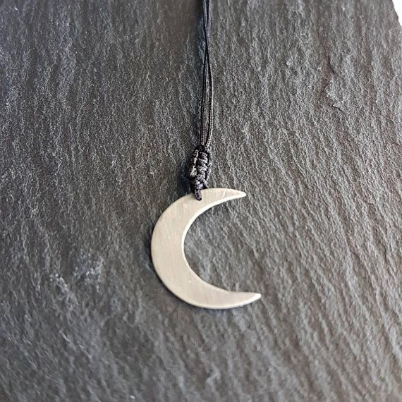 Check out this item in my Etsy shop https://www.etsy.com/listing/585166494/handmade-silver-necklacehalf-moon