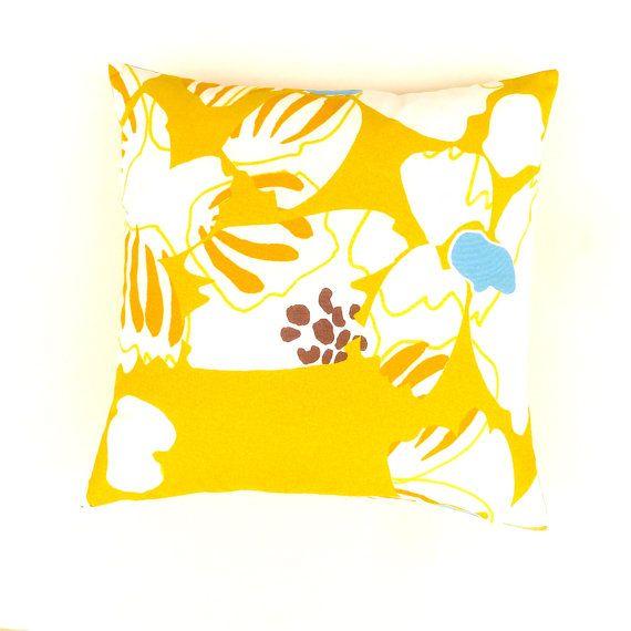 Marimekko Citrine Yellow Cushion Cover. Scandinavian by OnHighat5