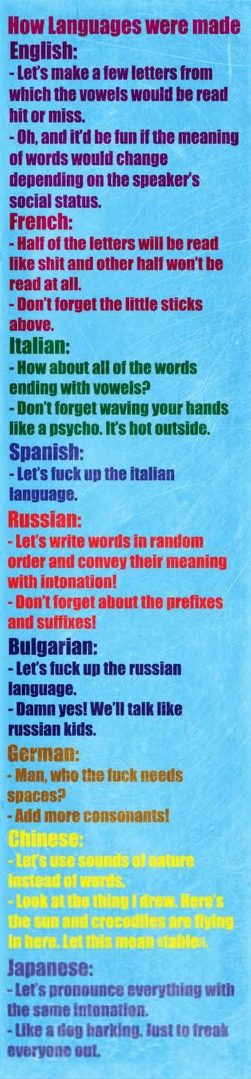 language generalizations