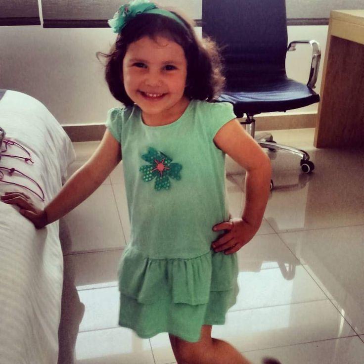 Moda+niña+look+boleros+verano+infantil Vestido de falda en boleros con balaca a juego! Perfecto para verano