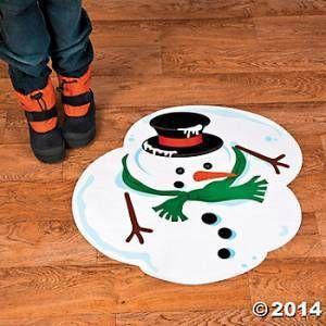 Melted Vinyl Snowman Floor Decal