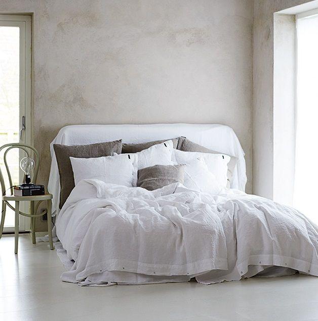 Lovely linen malibu extra thin påslakan – Optical white från Lovely Linen by Kardelen hos ConfidentLiving.se