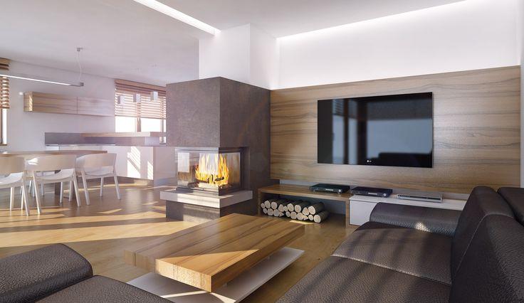 Výsledek obrázku pro designový obývací pokoj s krbem