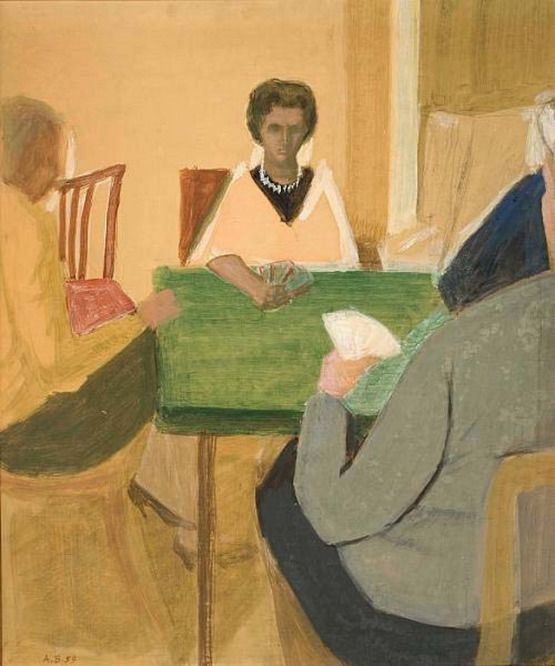 Andreas Vourloumis - Women playing cards, 1959