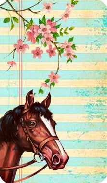 Free printable vintage horse greeting card via Flickr - perfect for turning into a birthday invitation