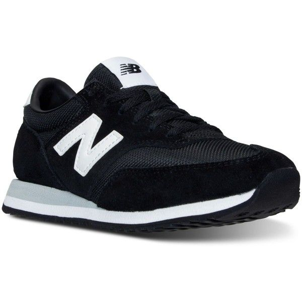 New Balance Women's 620 Casual Sneakers from Finish Line (96 CAD) ❤ liked on Polyvore featuring shoes, sneakers, black, black shoes, retro sneakers, retro shoes, breathable sneakers and new balance trainers