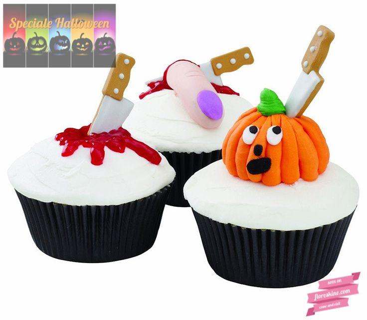 Wilton Set 12 decorazioni coltello - Wilton Meat Cleaver Royal Icing Decorations Cosa manca ai vostri dolcetti di Halloween?  Ecco il tocco finale!  http://www.floreskine.com/wilton- decorazioni-coltelli/