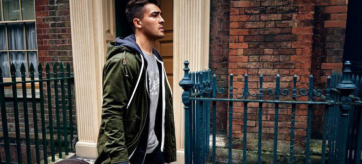 ORIGINALS by JACK & JONES - Yo Preston – #GoForGreat green jacket, grey t-shirt, menstyle, menswear