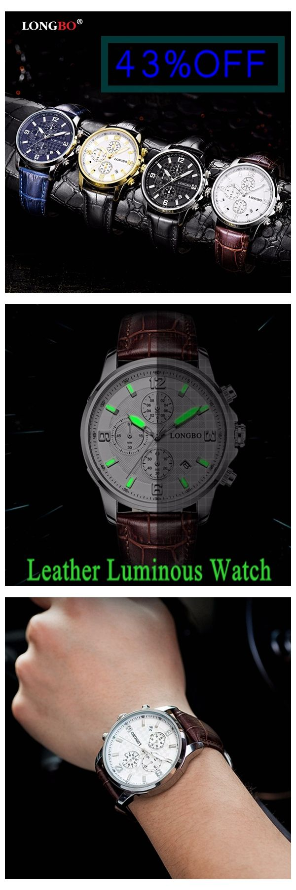 [Newchic Online Shopping] 43%OFF LONGBO Waterproof Watches | Luminous Watches | Sports Watches | Fashion Watches | Stainless Steel Watches | Leather Watches