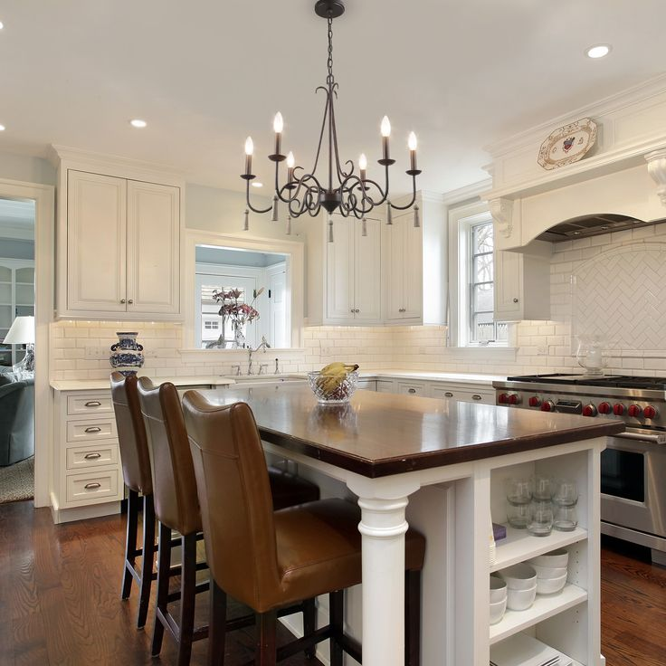 Open Concept French Country Kitchen Home Design Ideas: LNC Chandeliers French Country Farmhouse Brown Rustic
