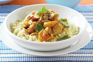 Spiced apricot chicken