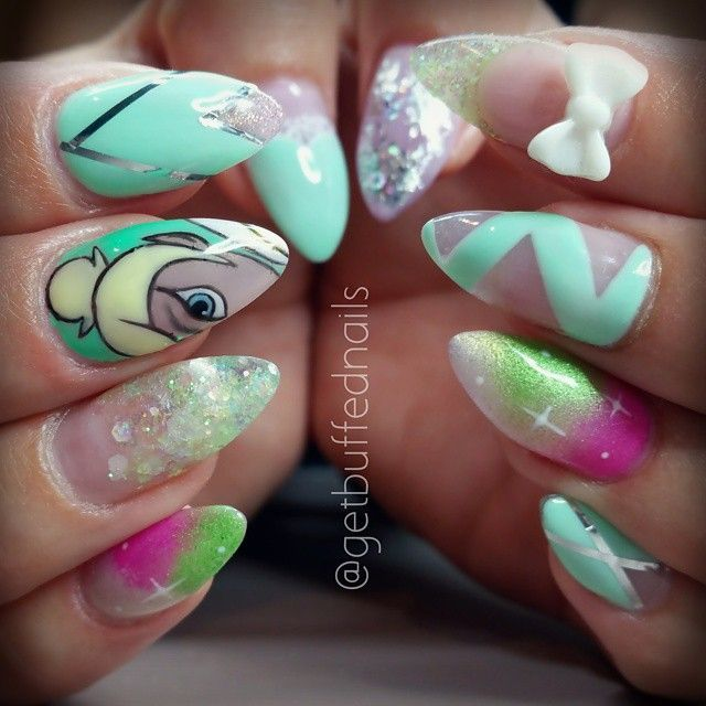 Tinkerbell Nails: 66 Best Disney Nails Images On Pinterest