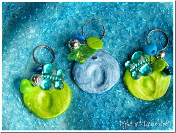 Make a thumb print key chain or pendant on modeling clay for a cute gift for mothers day. Make them heart shaped.