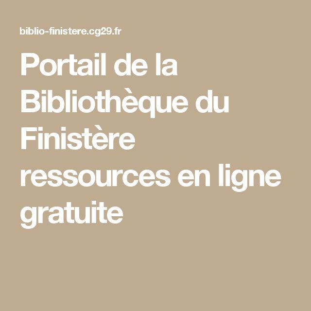 Portail de la Bibliothèque du Finistère ressources en ligne gratuite