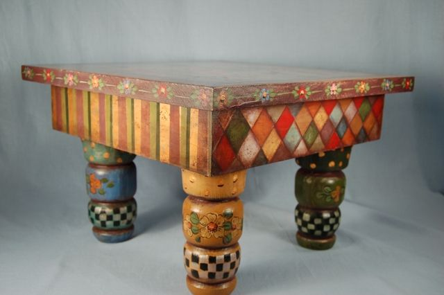 """""""Pulling Strings"""" stool by Heidi England, side view"""