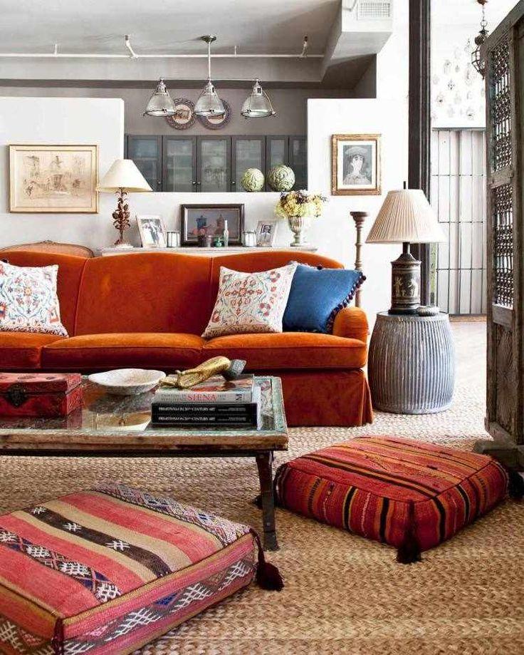 salon-ethnique-hippie-chic-canapé-orange