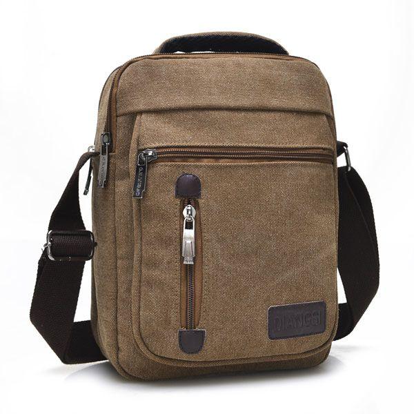 Men Canvas Multifunctional Portable Casual Retro Shoulder Crossbody Bag Handbag - US$13.99