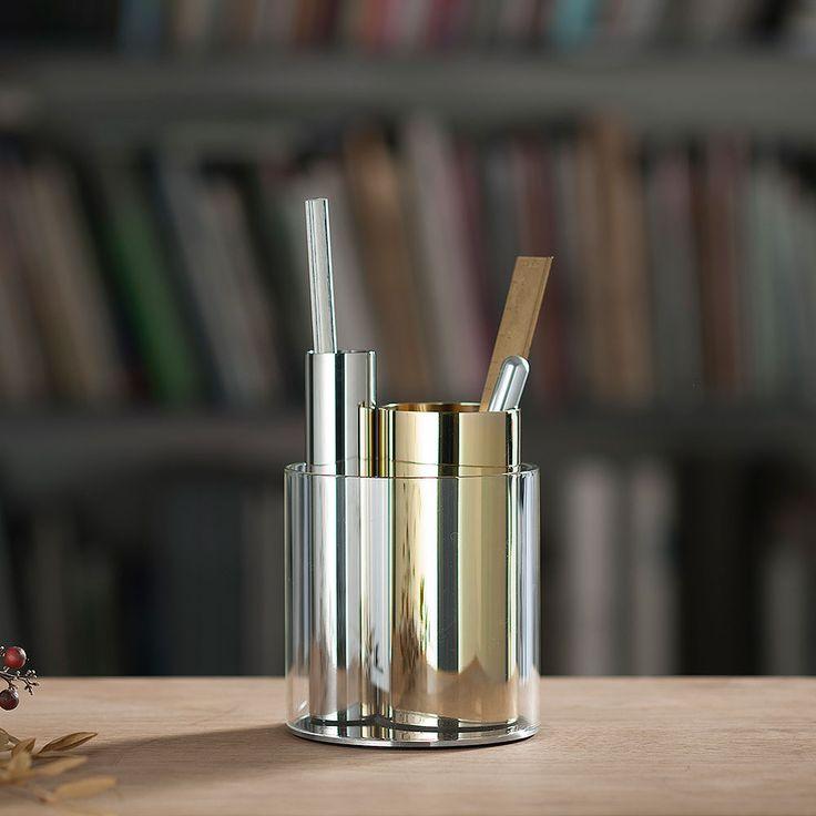 top3 by design - Beyond Object - penpo desk organiser steel + brass
