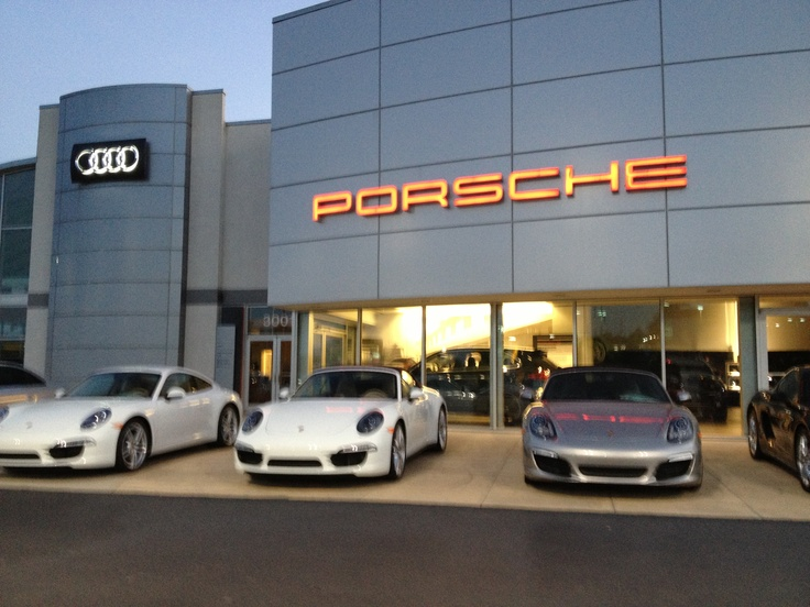 What happens at the Porsche dealership stays.. Within a small number if friends!